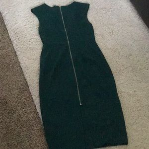 Forest green bodycon dress
